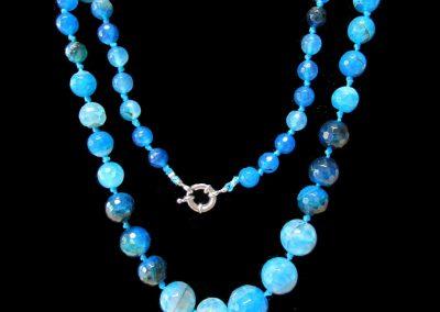 62 New Product - Blue Agate Quantum EMF Harmonizing Neckless - Quantum EMF Protectors