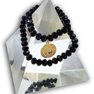 14 EMF Jewelry - Black Crystal Double Duty Bracelet - 8mm beads - Quantum EMF Protectors