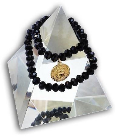14 EMF Jewelry - Black Crystal Double Duty Bracelet - 8mm beads - Quantum EMF Protectors