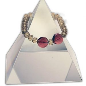 142 New Product - EMF Harmonizing Faceted Crystal Beads Smokey Rose - Quantum EMF Protectors
