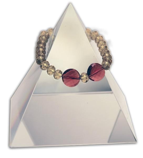 142 New Product - EMF Harmonizing Faceted Crystal Beads Smokey Rose - Quantum EMF Protectors