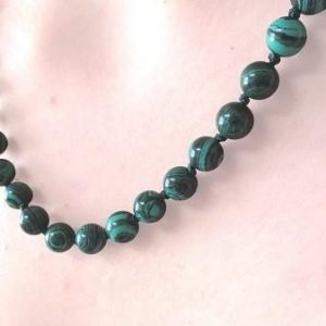 Quantum Infused Natural Malachite Necklace EMF Neutralizer - Quantum EMF Protectors