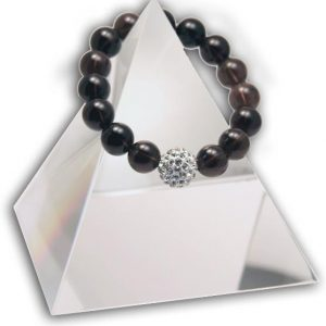 146 New Product - EMF Harmonizing Jewelry Smokey Quartz Globe Brown - Quantum EMF Protectors