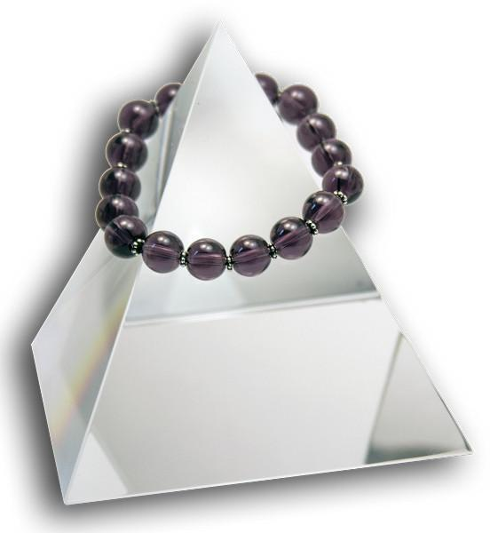 147 New Product - EMF Harmonizing Jewelry Smokey Quartz Globe Purple - Quantum EMF Protectors