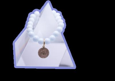 New Product - EMF Radiation Harmonizing Bracelet - White GLOBE Crystal Bracelet - Quantum EMF Protectors
